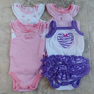Set of 4 small wonders summer one pieces